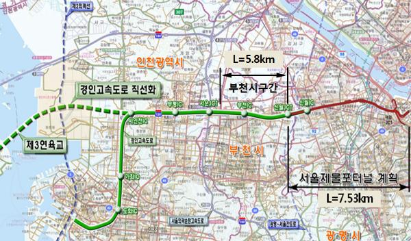 ▲ 경인고속도로 지하화 구간