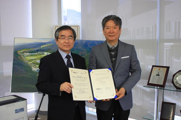 ▲ (왼쪽부터) 유진환 태권도진흥재단 사무총장, 김영빈 PiFan 집행위원장