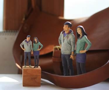 ▲ ▶ 실제 인물을 3D 프린터로 제작한 피규어 이미지