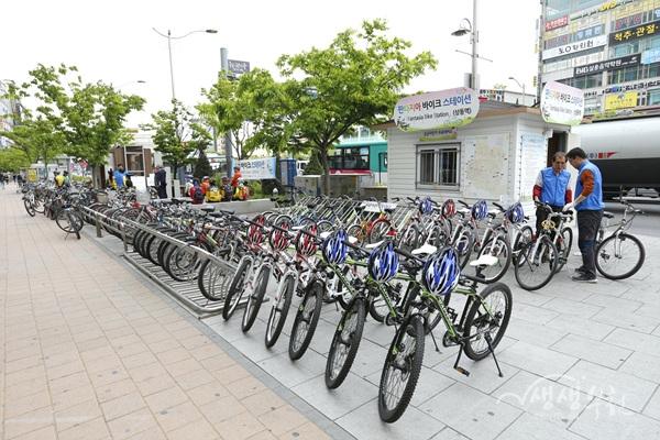 ▲ 공공자전거무료대여서 상동역