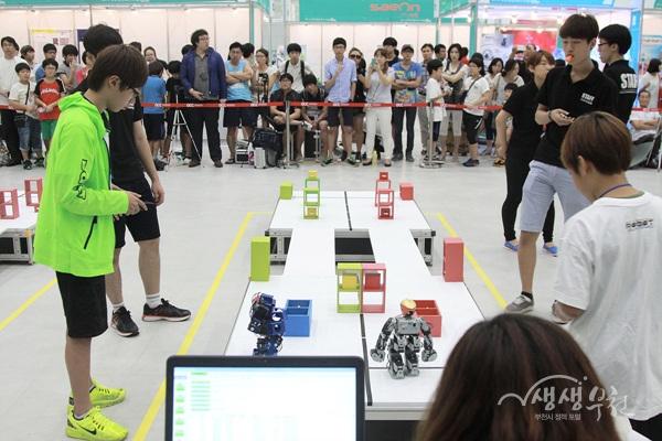 ▲ 2014 국제로봇올림피아드 한국대회