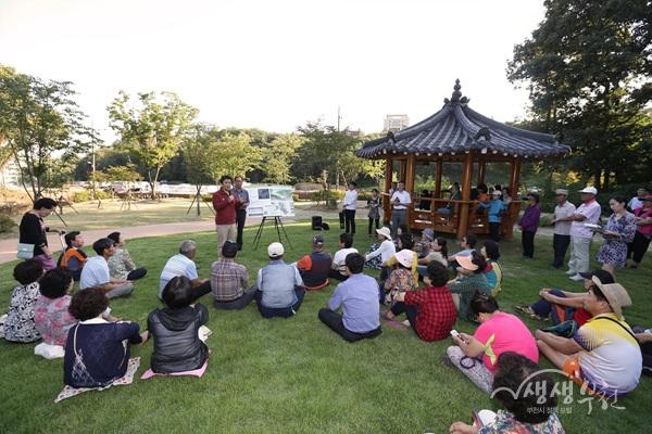 ▲ 역곡공원 조성현장에서 열린 시민과의 대화