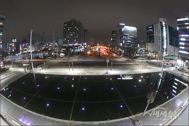 ▲ 환승센터에서 바라본 송내역 앞 시가지 야경