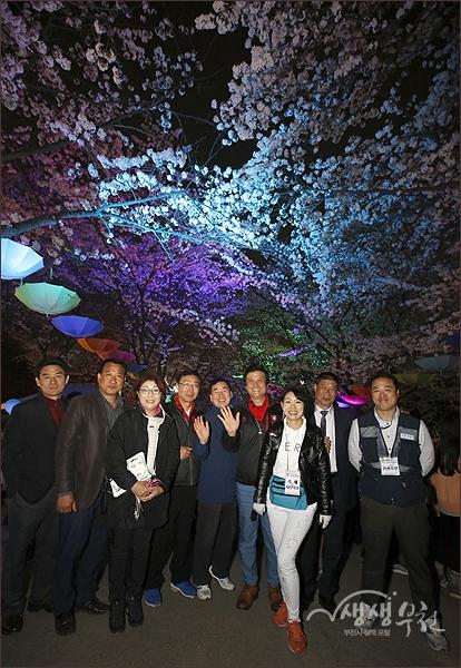 ▲ 도당산 벚꽃축제