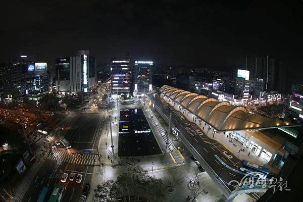 ▲ 송내역 환승센터 야경