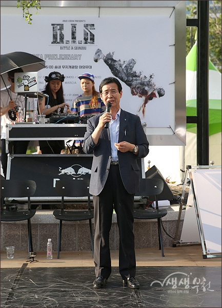 ▲ 부천시 문화기획단 김용범 단장의 축하인사
