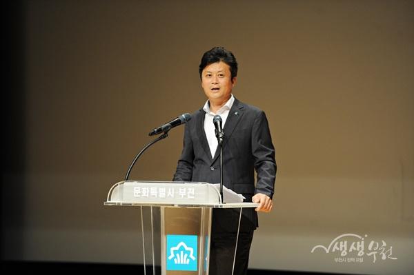 ▲ 김만수 시장이 6월 월례조회에서 '부천시 인사운영 5대 원칙'을 발표했다.