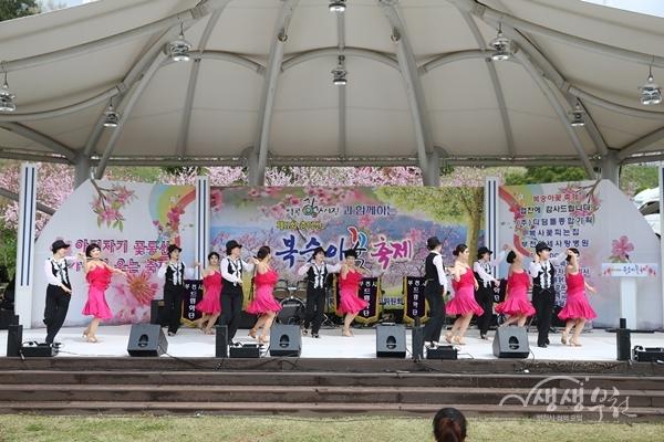 ▲ 지난해 춘덕산 복숭아꽃축제 모습