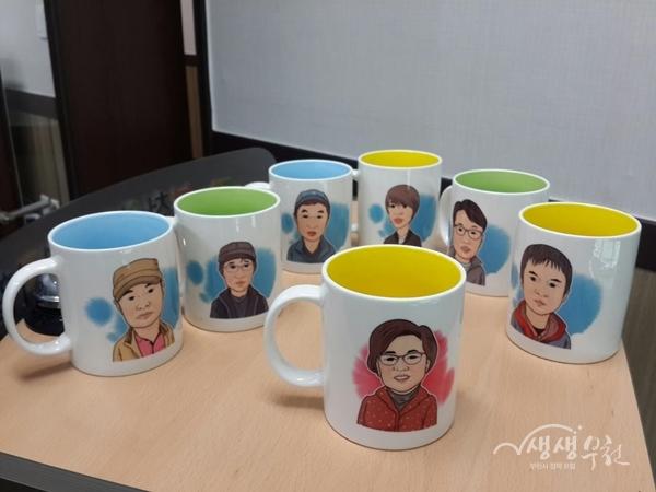 ▲ 사업 참여자들이 만든 '나만의 컵'