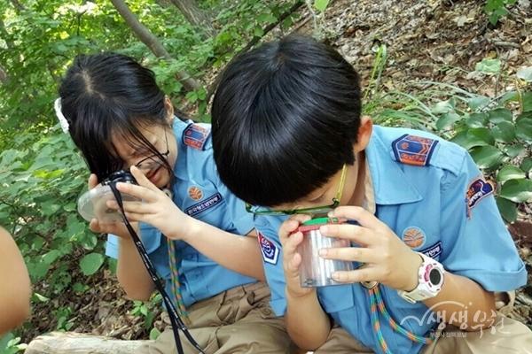 ▲ 무릉도원수목에서 진행하는 '숲에서 놀자' 프로그램