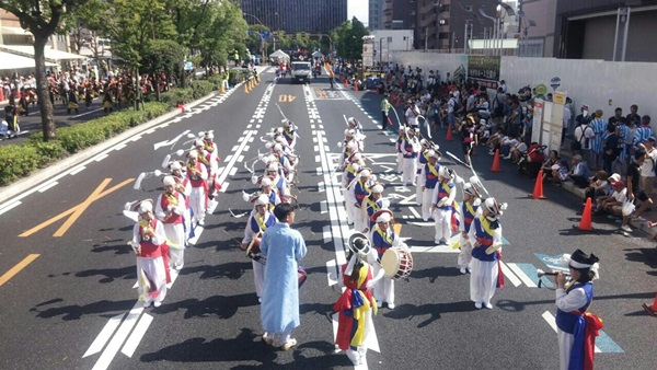 ▲ 올해 8월 일본 오카야 우라제 축제 공연 모습