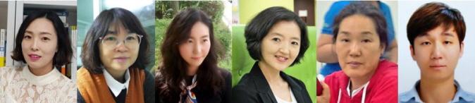 ▲ ▲ (사진 왼쪽부터) 김정은, 서금숙, 최아영, 안순화, 민경자, 홍문표