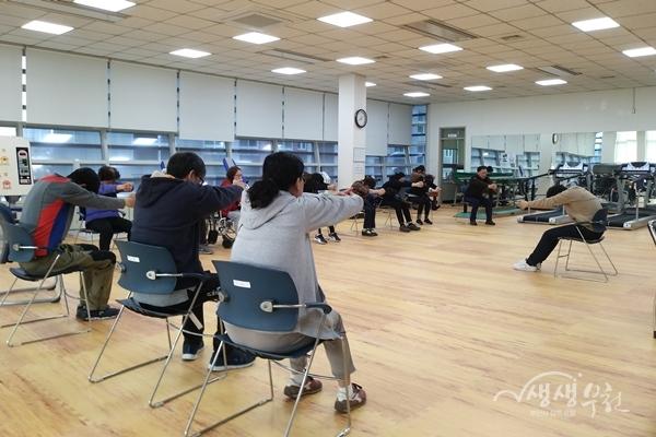 ▲ 재활운동 그룹활동 참여 모습