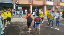 ▲ 깨끗한 학교 캠페인 봉사활동
