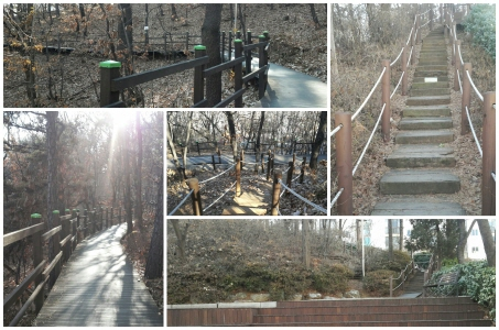 목일신공원에서 이어지는 데크 산책길