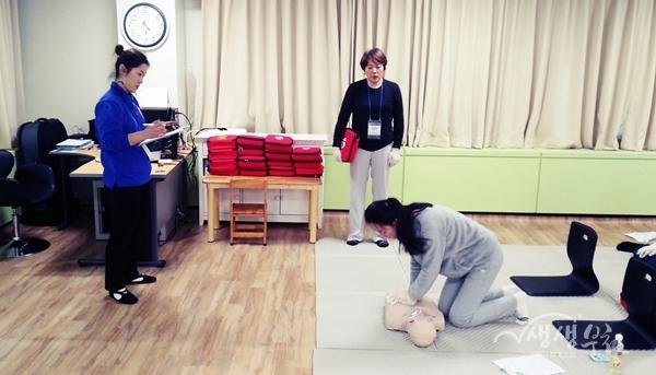 ▲ 부천시보건소 심폐소생술 교육