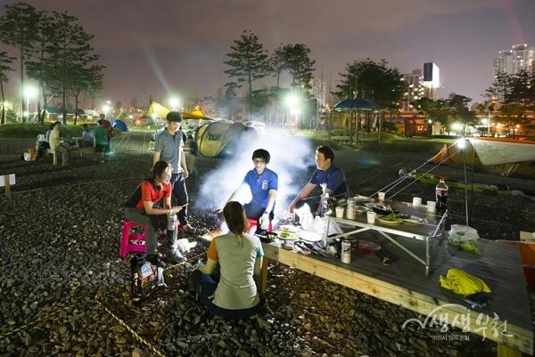 ▲ 야인시대 캠핑장