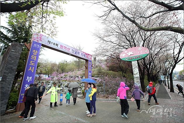 ▲ 원미산 진달래 축제 현장