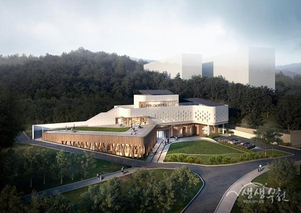 숲 속 독서, 북캠핑…부천시, 자연친화 '역곡도서관' 건립