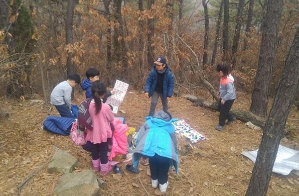 ▲ 부천 방과 후 숲학교의 아이들 모습