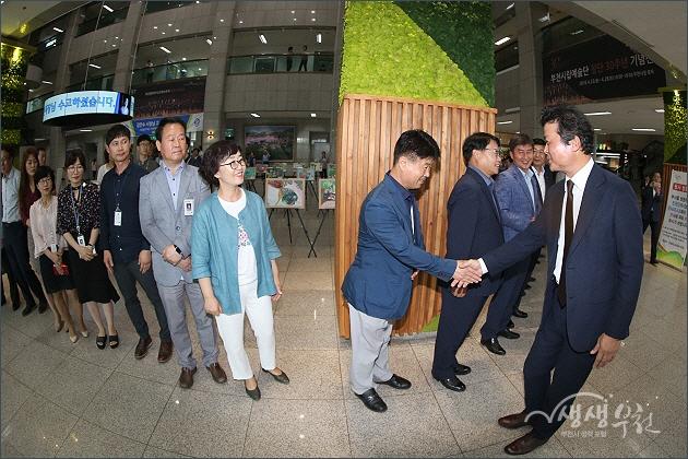 ▲ 제21대 김만수 부천시장 이임식