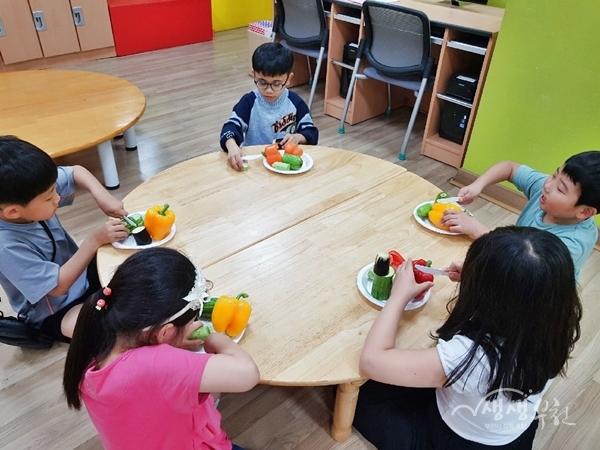 ▲ 부천시보건소 '채소 미각체험 놀이'