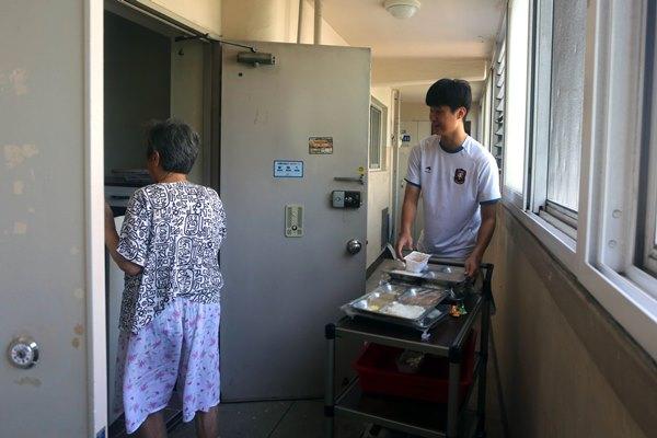 ▲ 사랑의 점심 배달 봉사
