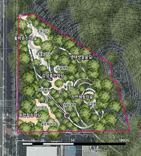 ▲ 샛말 여가녹지 조성사업 계획도