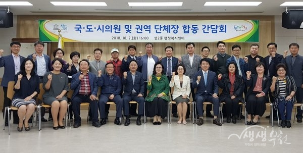▲ 상2동, 국·도․시의원 및 권역단체장 합동 간담회