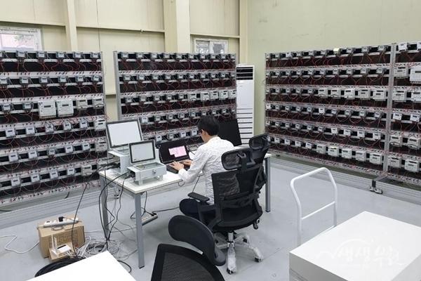 ▲ KTC의 디지털 수도미터기 실험 모습