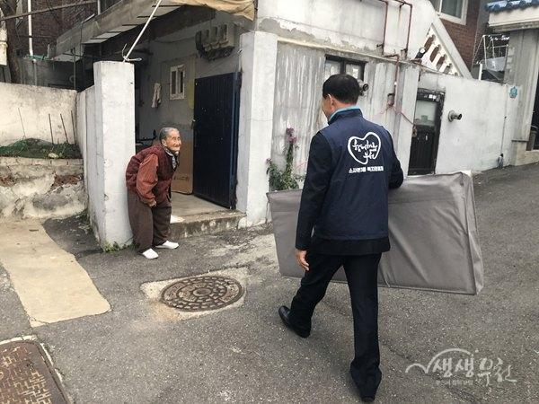 ▲ 소사본3동 복지협의체는 소외계층을 위해 난방용품 긴급구호사업을 추진했다.