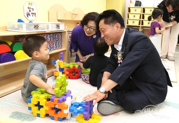 ▲ 국공립어린이집을 확충 등 아이 키우기 좋은 보육환경에 힘쓴다.