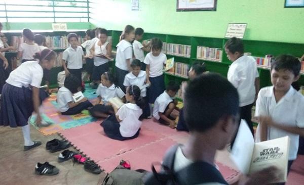 ▲ 잭과 콩나무가 필리핀에 세운 작은도서관 모습