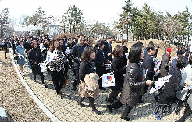 ▲ 제100주년 3.1절 기념 거리 행진