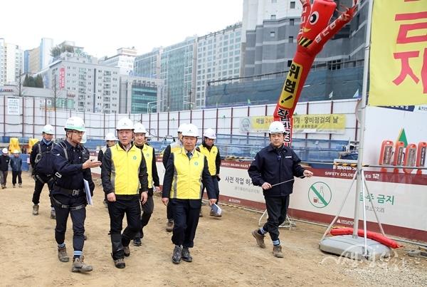 ▲ 힐스테이트 주상복합 공동주택 공사현장 점검
