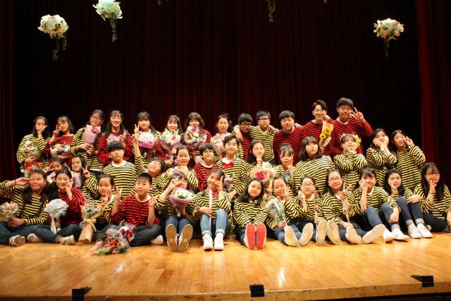 ▲ 2017.11.11일 오정아트홀에서 올린 창작 뮤지컬 '꿀벌들의 모험' 공연