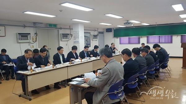▲ 역곡2동에서 진행된 광역동 실무추진단 회의