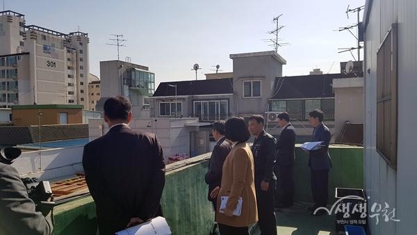 ▲ 부천시 광역동 실무추진단이 역곡2동 동대본부 의견을 듣고 있다.