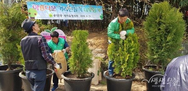 ▲ '아름다운 거리 만들기' 나무심기 행사