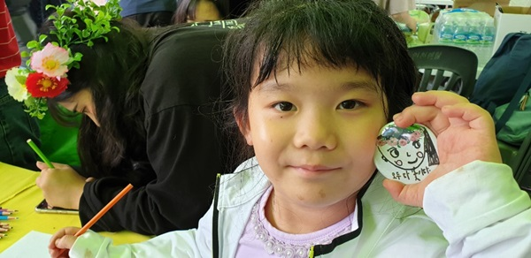 ▲ 부천 문화축제 '다ㆍ多ㆍÐa'에 참가중인 아이 모습