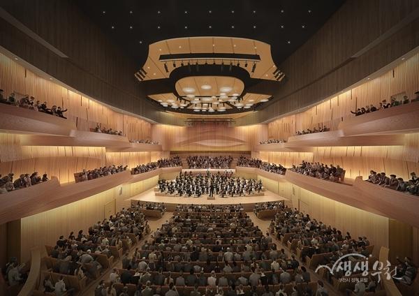 ▲ 부천문화예술회관 콘서트홀(투시도)