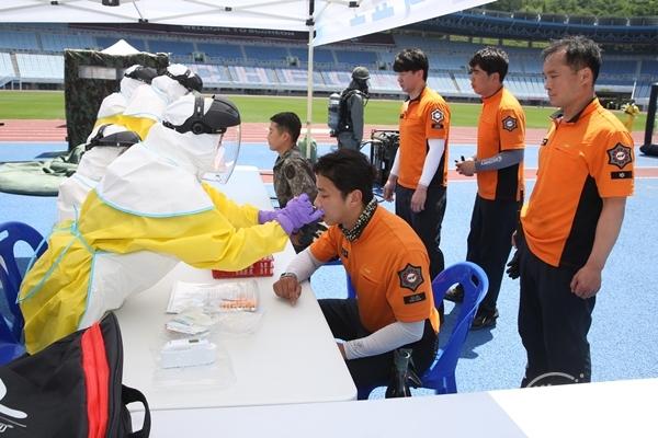 ▲ 부천시 생물테러 대비 민관군경 합동 대응 모의훈련
