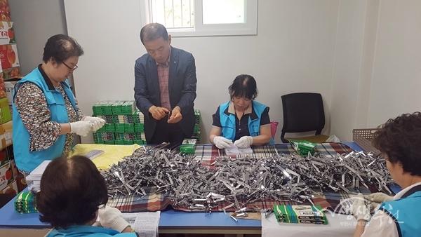 ▲ 부천시 노인일자리 사업 참여 모습
