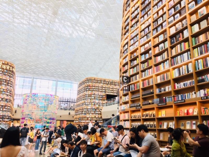 ▲ 서울국제도서전이 열리는 코엑스 별마당도서관