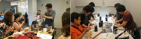 ▲ 홈메이드 커피 교육(소사하루 카페: 부천시 소사로 160번길 75-8)