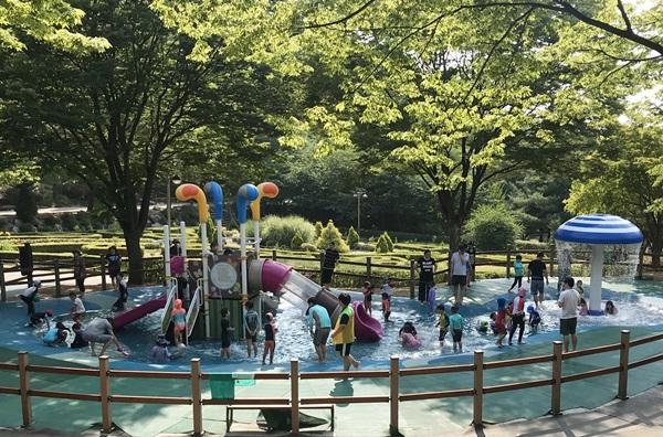 ▲ 도당공원 물놀이장 전경사진