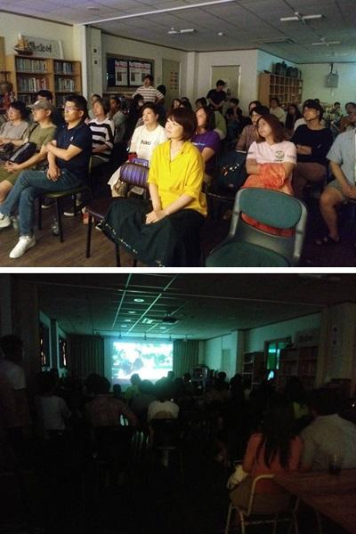 ▲ 문화공간DD에서 카운터스를 관람중인 관객들의 모습