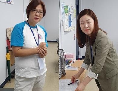 ▲ ▲ (좌) 고영순 교장, (우) 민연주 교사