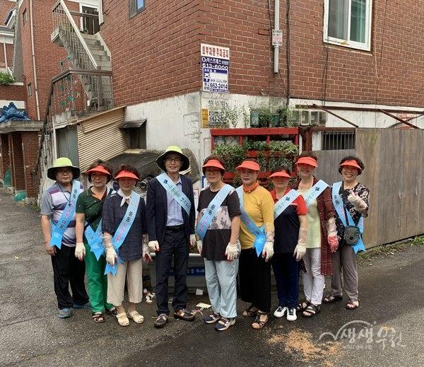 ▲ 중동 자원순환마을, 깨끗한 우리마을 만들기 정화활동 실시