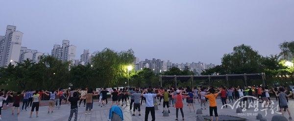 ▲ 상동호수공원 별밤 시민 건강교실